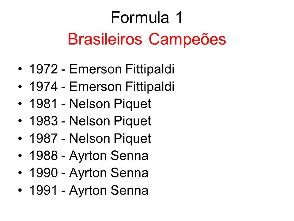 Emerson Fittipaldi (1972 e 1974)