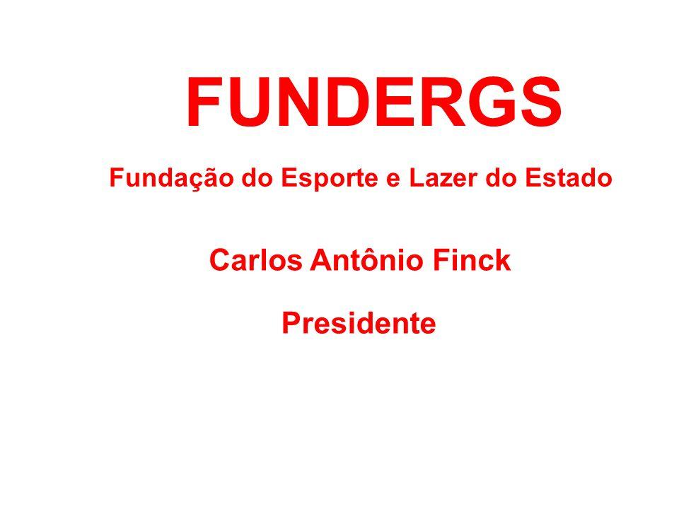 FUNDERGS Fundação do Esporte e Lazer do Estado Carlos Antônio Finck Presidente