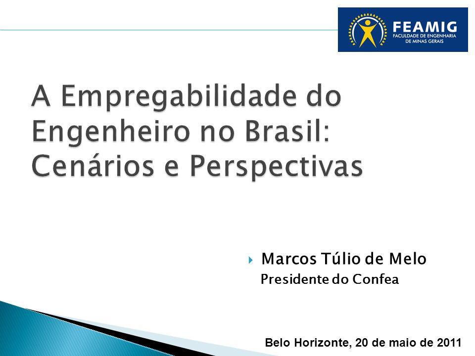 Marcos Túlio de Melo Presidente do Confea Belo Horizonte, 20 de maio de 2011