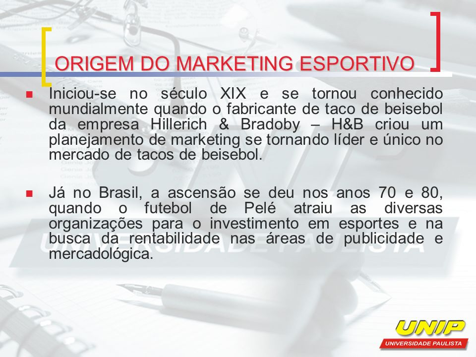 CONCEITO DE MARKETING ESPORTIVO De acordo com Contursi (2002, p.37): o marketing esportivo é um segmento do marketing devidamente aplicado ao segmento de esportes, e como tal, o marketing esportivo envolve uma série de atividades que compõe o tradicional mix de marketing, ou seja, produto, preço, promoção e ponto de venda.