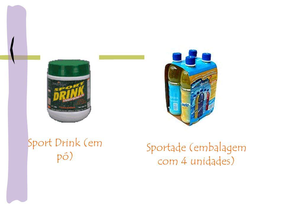 Sport Drink (em pó) Sportade (embalagem com 4 unidades)