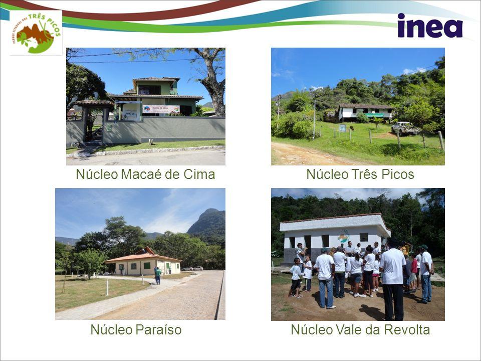Núcleo Macaé de CimaNúcleo Três Picos Núcleo Vale da RevoltaNúcleo Paraíso