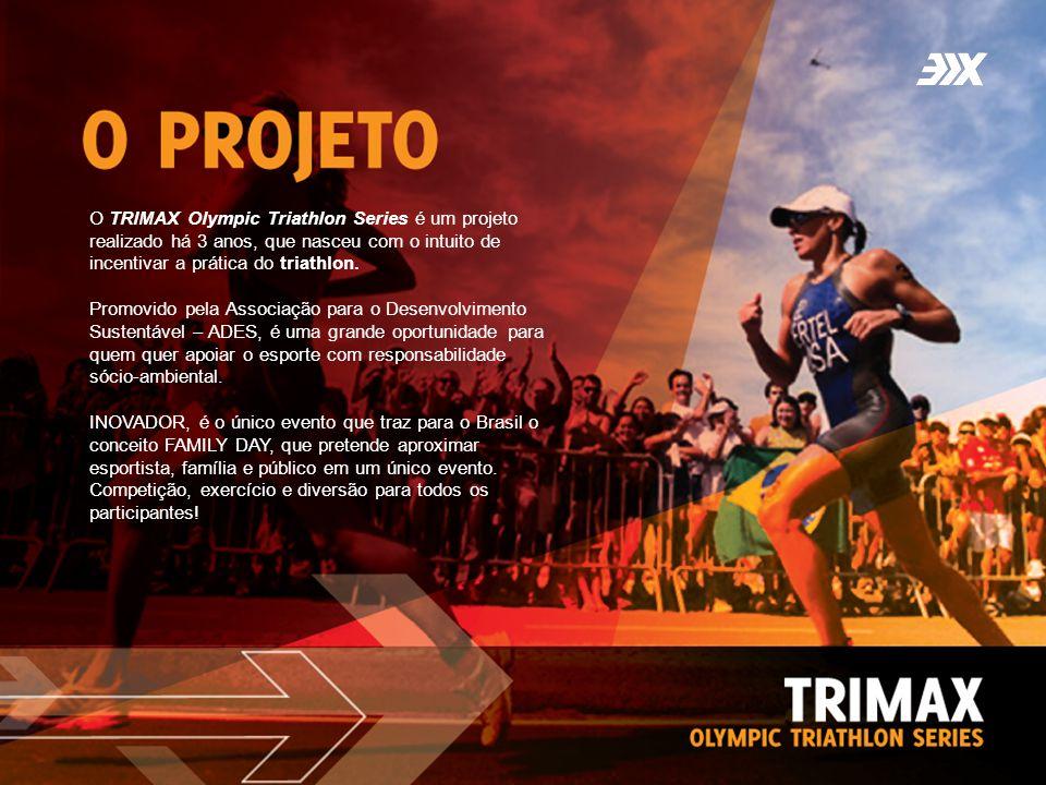 O TRIMAX Olympic Triathlon Series é um projeto realizado há 3 anos, que nasceu com o intuito de incentivar a prática do triathlon. Promovido pela Asso