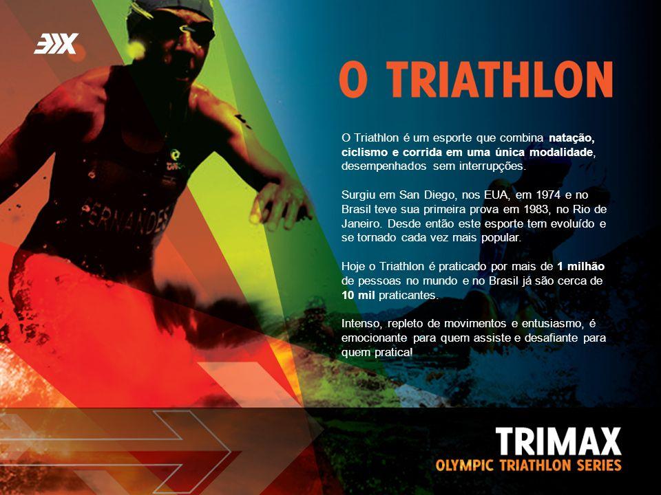O Triathlon é um esporte que combina natação, ciclismo e corrida em uma única modalidade, desempenhados sem interrupções. Surgiu em San Diego, nos EUA