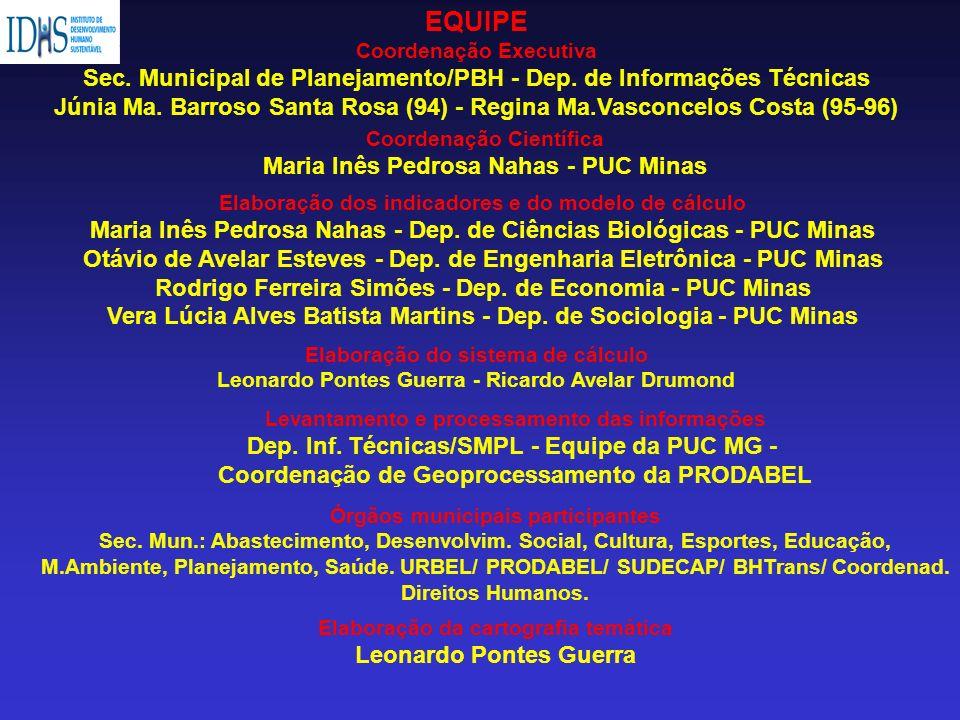 Elaboração dos indicadores e do modelo de cálculo Maria Inês Pedrosa Nahas - Dep. de Ciências Biológicas - PUC Minas Otávio de Avelar Esteves - Dep. d