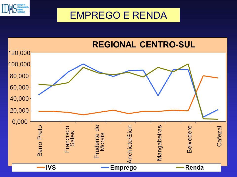 REGIONAL CENTRO-SUL 0,000 20,000 40,000 60,000 80,000 100,000 120,000 Barro Preto Francisco Sales Prudente de Morais Anchieta/Sion Mangabeiras Belvede