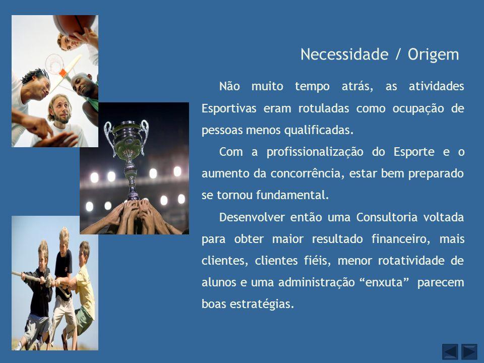 Resultados Objetivados O ambiente esportivo tratado como empresa.