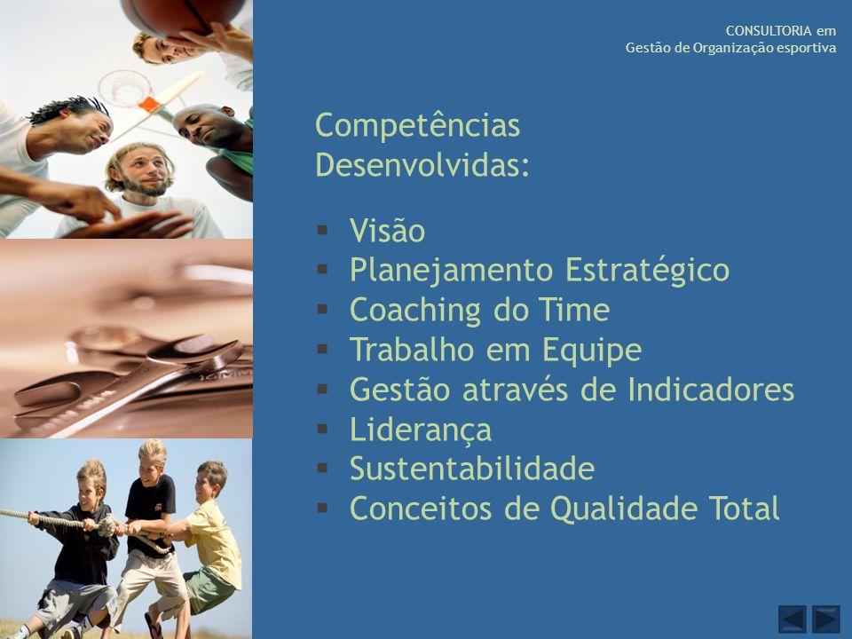 Competências Desenvolvidas: Visão Planejamento Estratégico Coaching do Time Trabalho em Equipe Gestão através de Indicadores Liderança Sustentabilidad