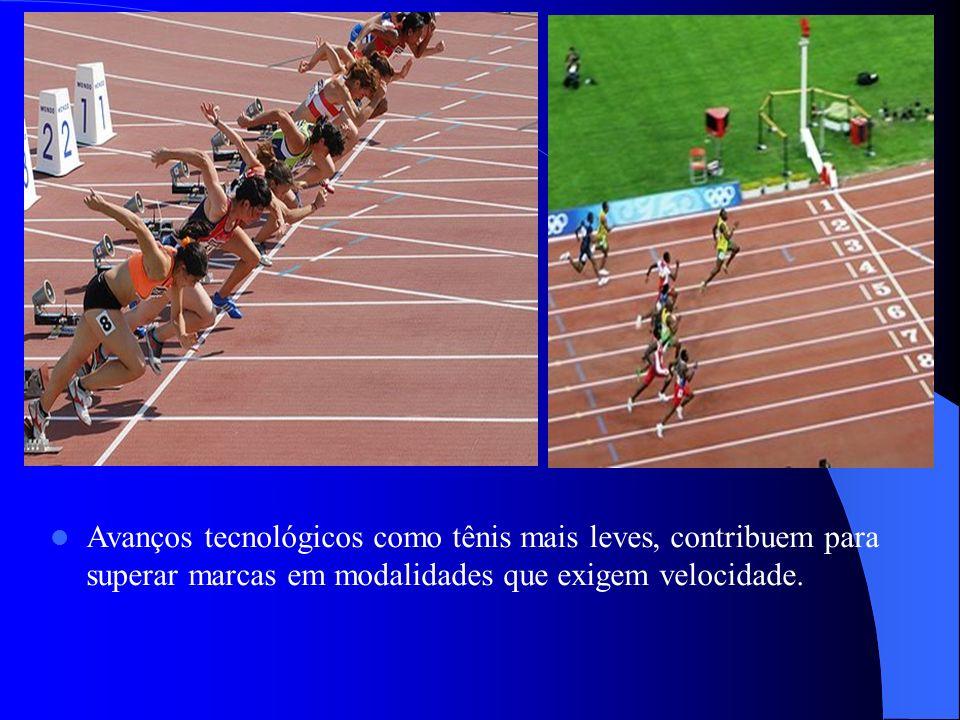Avanços tecnológicos como tênis mais leves, contribuem para superar marcas em modalidades que exigem velocidade.