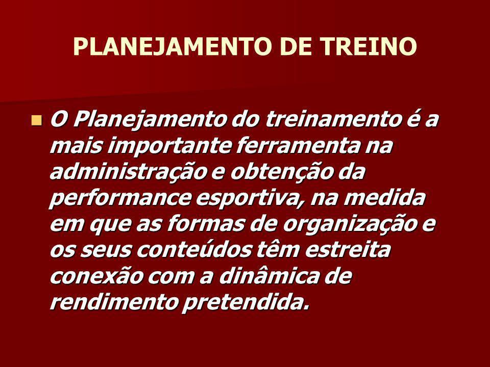 BASES TEÓRICAS E CIENTÍFICAS PARA A PLANIFICAÇÃO DO TREINO Ricardo de Moura - CBDA