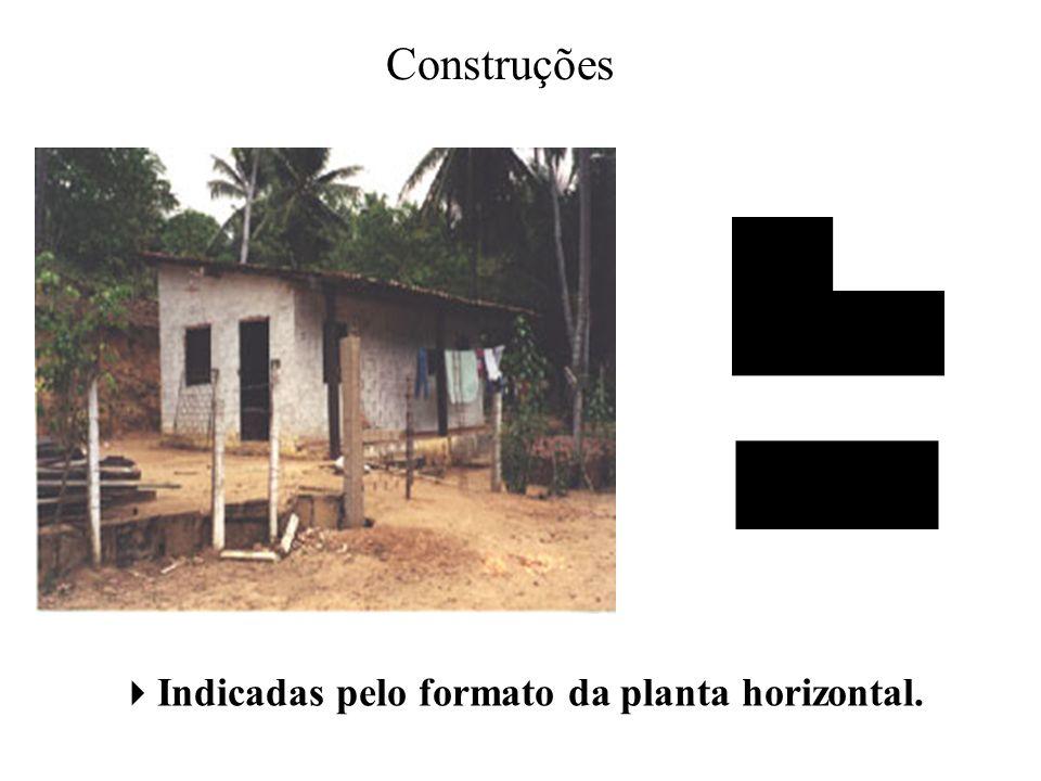 Construções Indicadas pelo formato da planta horizontal.