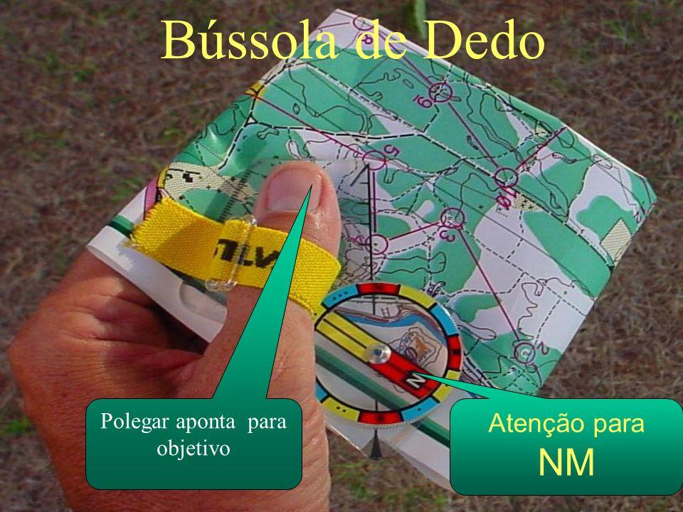 Bússola de Dedo Polegar aponta para objetivo Atenção para NM