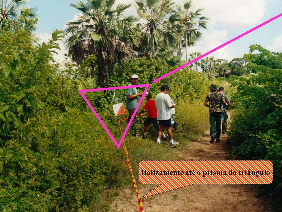 Balizamento até o prisma do triângulo