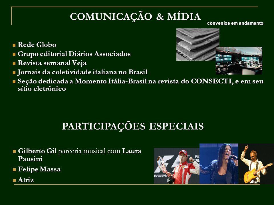 COMUNICAÇÃO & MÍDIA Rede Globo Rede Globo Grupo editorial Diários Associados Grupo editorial Diários Associados Revista semanal Veja Revista semanal V