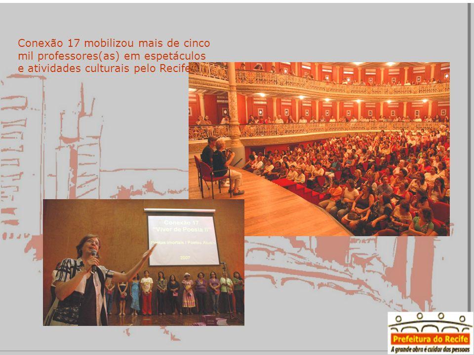 Conexão 17 mobilizou mais de cinco mil professores(as) em espetáculos e atividades culturais pelo Recife.