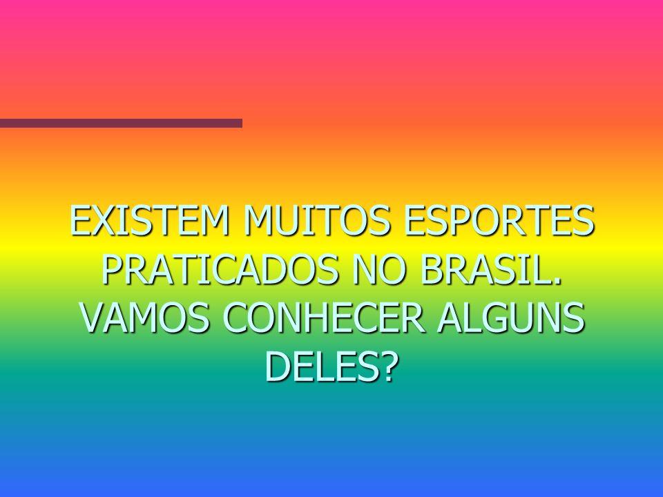 EXISTEM MUITOS ESPORTES PRATICADOS NO BRASIL. VAMOS CONHECER ALGUNS DELES?