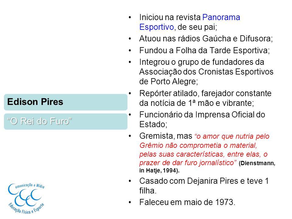 Iniciou na revista Panorama Esportivo, de seu pai; Atuou nas rádios Gaúcha e Difusora; Fundou a Folha da Tarde Esportiva; Integrou o grupo de fundador