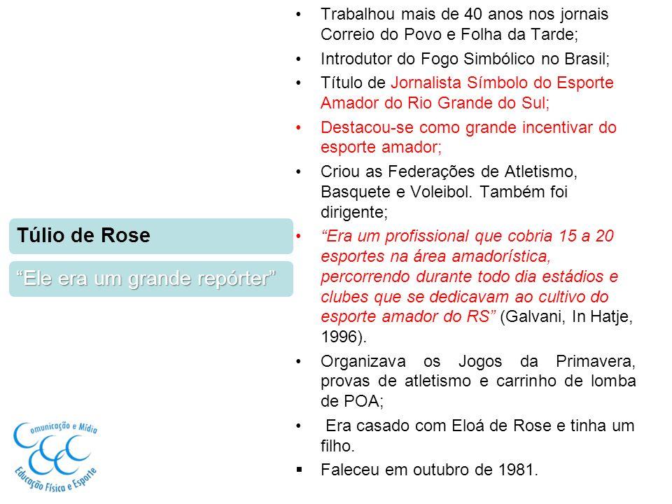 Nasceu em São Luiz Gonzaga, em 1915 Iniciou sua carreira esportiva no jornal A Nação, em 1941 Em 1943, passou para o Jornal Folha da Tarde; Em 1977, ingressou no Grupo RBS; Foi um dos 11 fundadores da Associação dos Cronistas Esportivos de Porto Alegre, hoje Associação dos Cronistas Esportivos Gaúchos; Desenvolveu a campanha contra o preconceito de cor no futebol; Primeiro secretário do Internacional; Fez cobertura de 7 Copas do Mundo.
