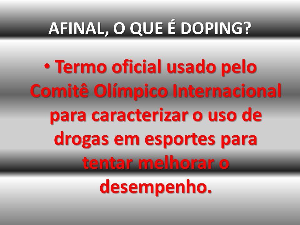 DOPING NO TRIATLON Agosto de 2009 A triatleta Mariana Ohata, de 30 anos, foi flagrada em um exame antidoping pela segunda vez, uso de diuréticos