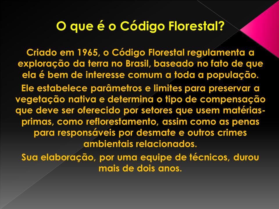 O que é o Código Florestal.
