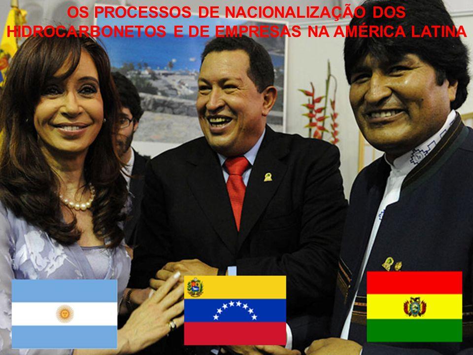 A nacionalização ou estatização se tornou uma característica comum dos Governos tidos como Populistas na América Latina.