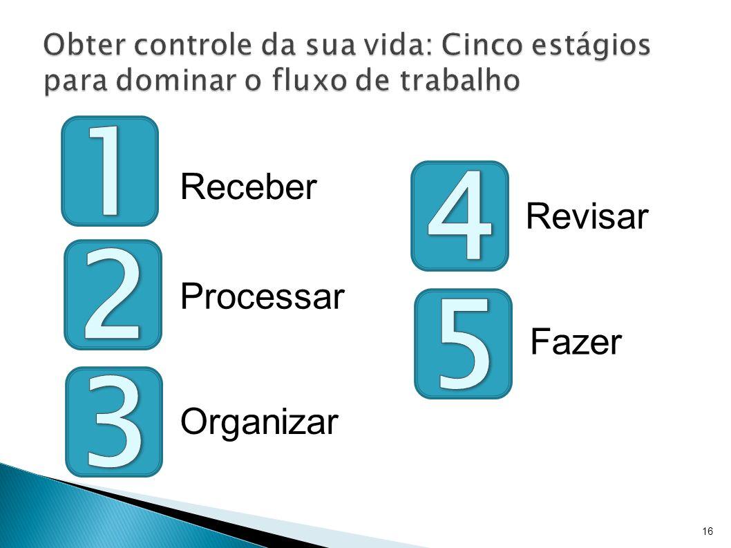 16 Receber Processar Organizar Revisar Fazer