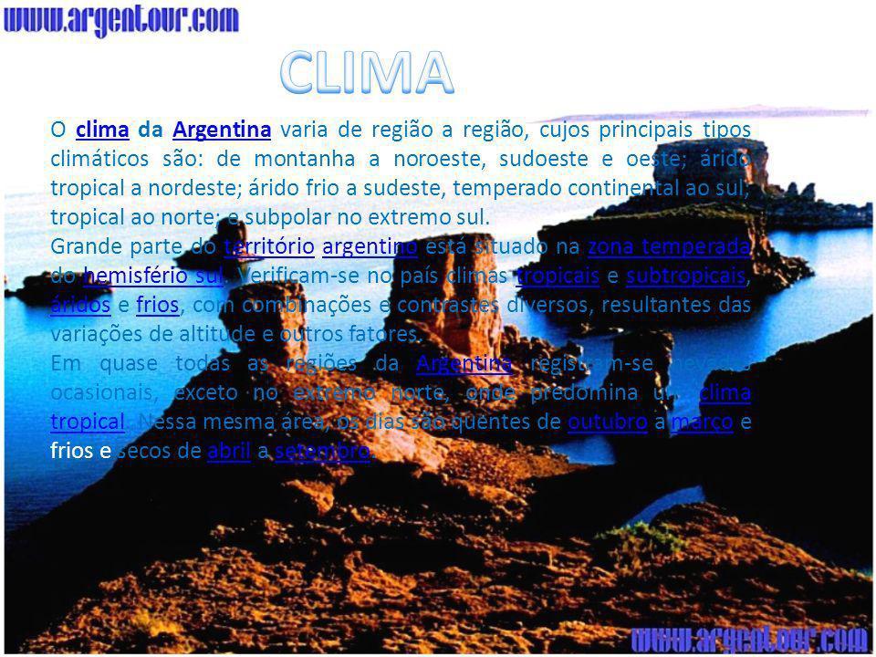 A Vegetação da Argentina é muito diversificada com destaque para a fauna da região, ambos aspectos naturais diretamente determinados pelas corresponde