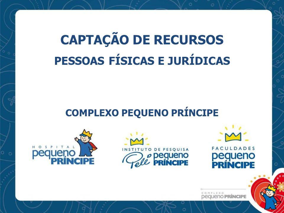 CAPTAÇÃO DE RECURSOS PESSOAS FÍSICAS E JURÍDICAS COMPLEXO PEQUENO PRÍNCIPE
