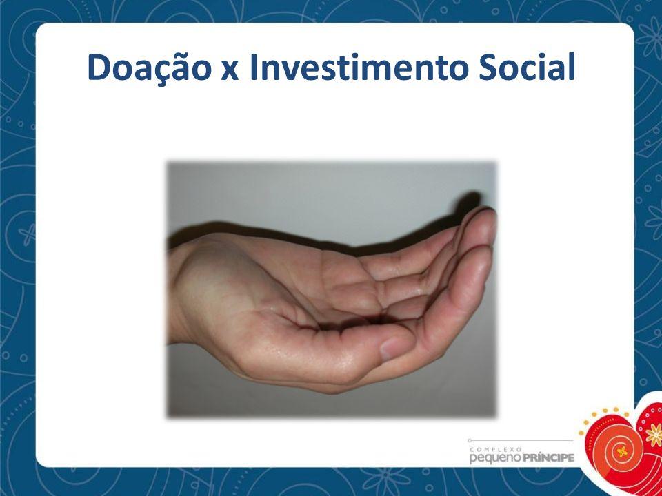 Doação x Investimento Social