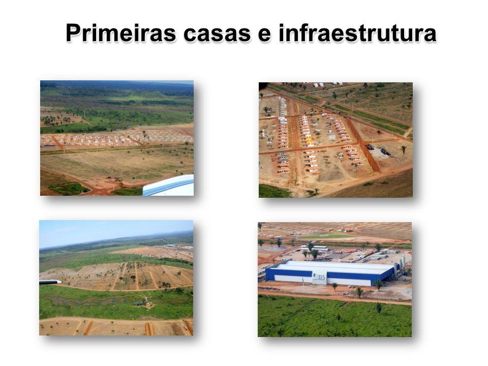 Primeiras casas e infraestrutura