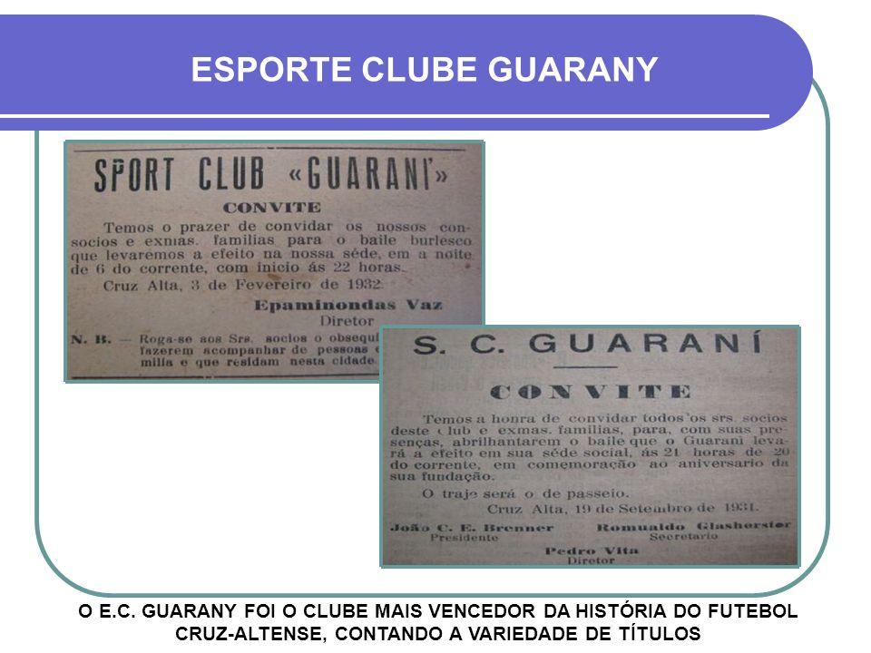 E.C. GUARANY X ARRANCA F.C. LOGO DEPOIS DE SUA FUNDAÇÃO SURGIA O ARRANCA FUTEBOL CLUBE, O MAIOR RIVAL DA HISTÓRIA ANTIGA DO GUARANY PAVILHÃO DO GUARAN