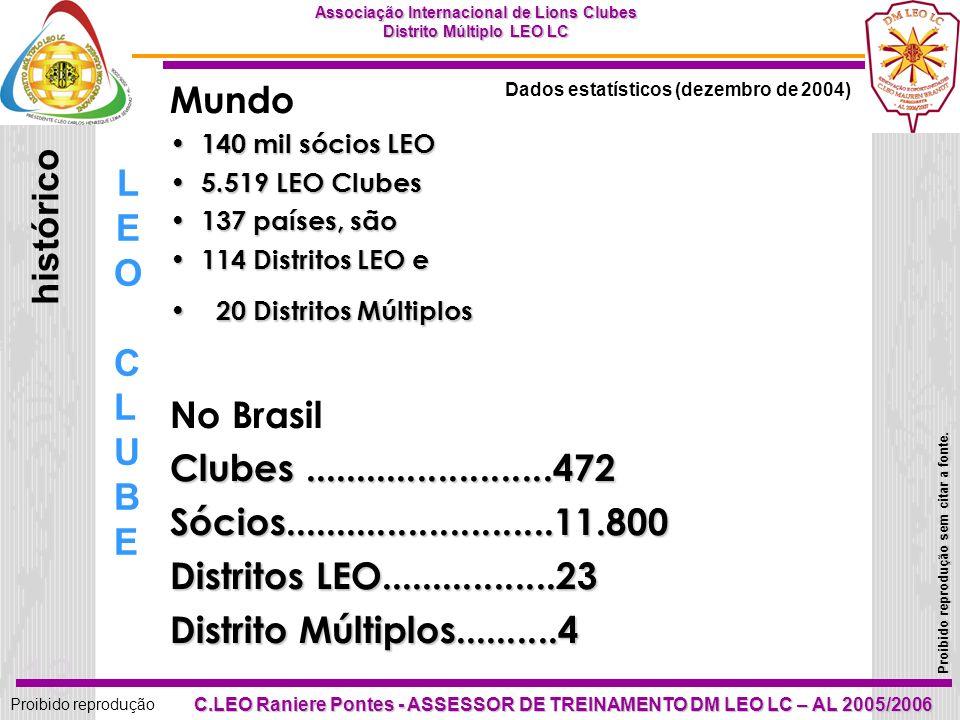 12 Proibido reprodução Associação Internacional de Lions Clubes Distrito Múltiplo LEO LC Proibido reprodução sem citar a fonte. C.LEO Raniere Pontes -