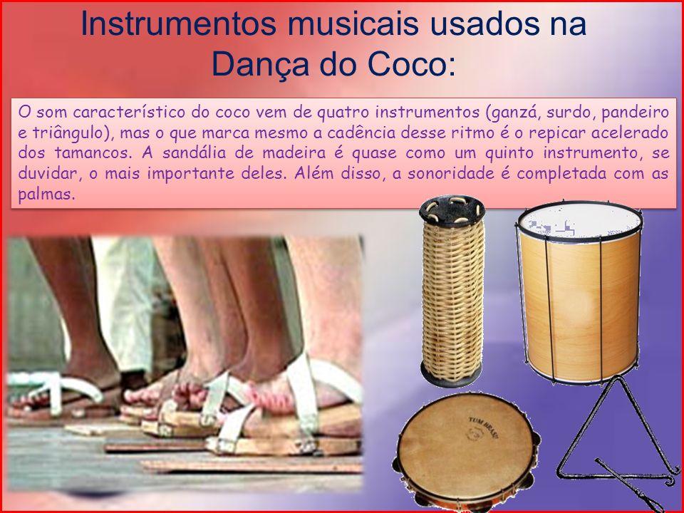 O som característico do coco vem de quatro instrumentos (ganzá, surdo, pandeiro e triângulo), mas o que marca mesmo a cadência desse ritmo é o repicar