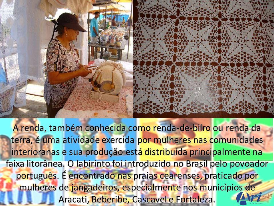 A renda, também conhecida como renda-de-bilro ou renda da terra, é uma atividade exercida por mulheres nas comunidades interioranas e sua produção est