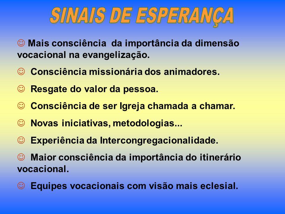 REFERÊNCIA Documento Final do II Congresso Vocacional do Brasil – 2005 - Estudos da CNBB Nº 90 – Ide também vós para minha vinha.