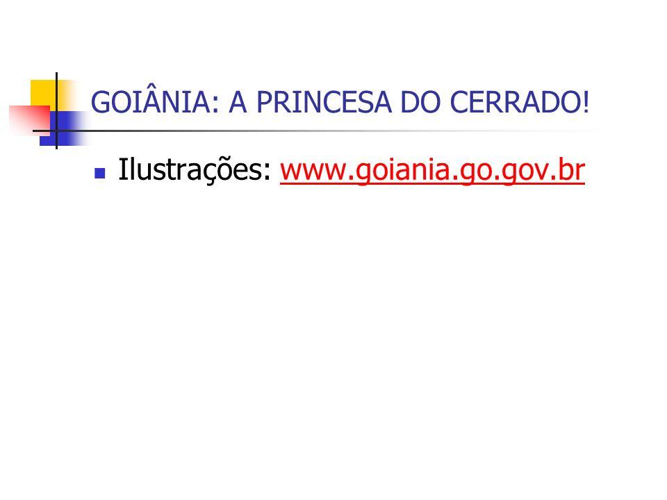 GOIÂNIA: A PRINCESA DO CERRADO! Ilustrações: www.goiania.go.gov.brwww.goiania.go.gov.br