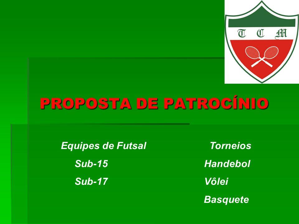 Equipes de Futsal Torneios Sub-15 Handebol Sub-17 Vôlei Basquete
