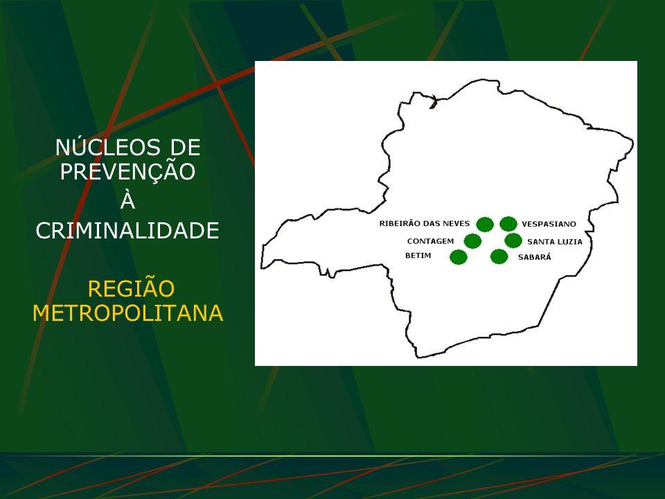N Ú CLEOS DE PREVEN Ç ÃO À CRIMINALIDADE REGIÃO METROPOLITANA