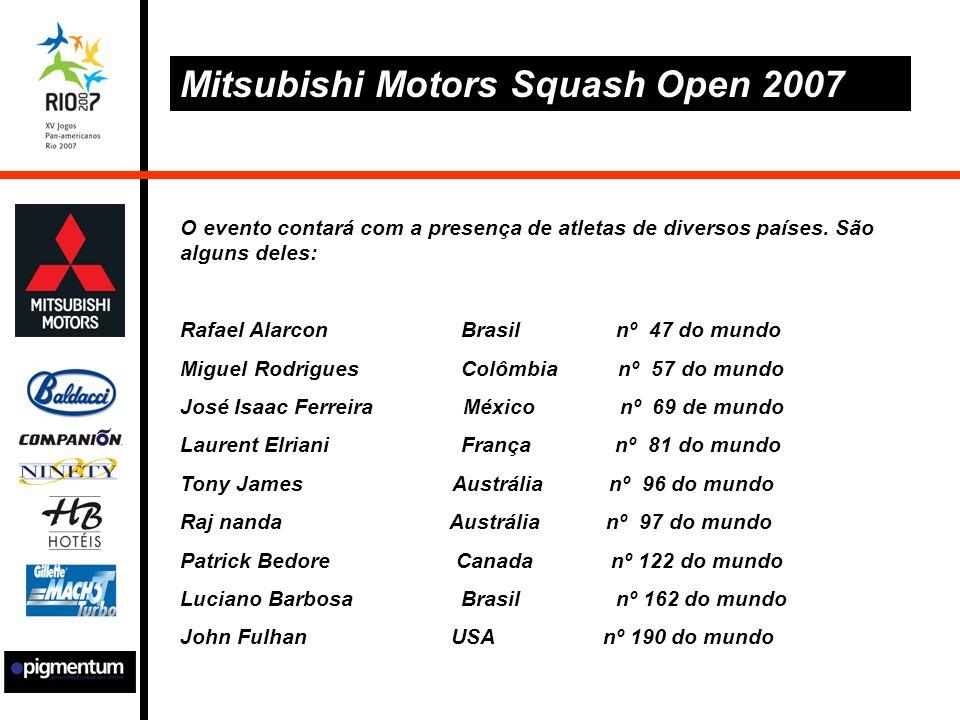 Mitsubishi Motors Squash Open 2007 O evento contará com a presença de atletas de diversos países.