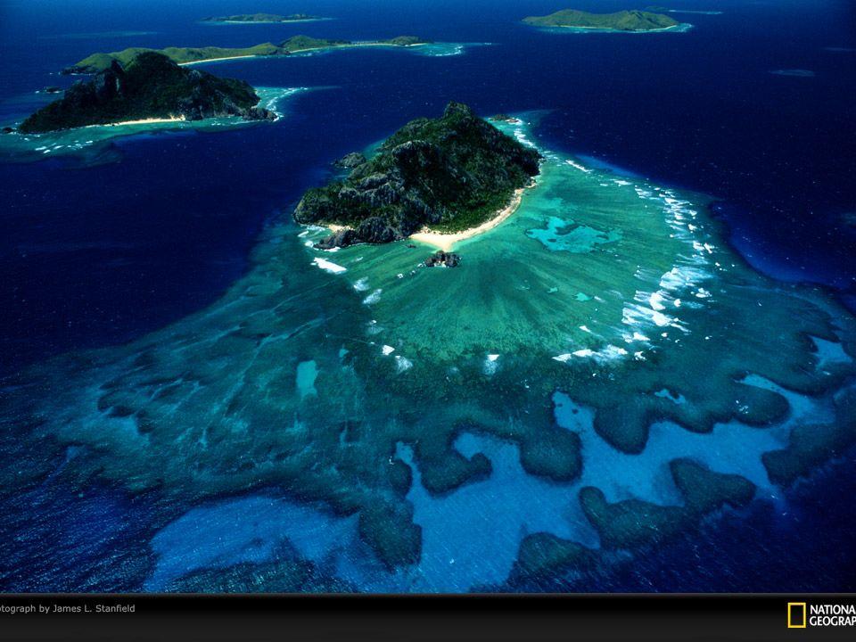 Melhor cenário natural (não exposto) Recifes de coral ao redor das ilhas Fiji