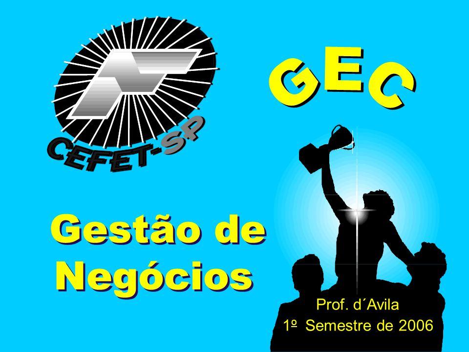 GEC Gestão de Negócios Prof. d´Avila 1 o Semestre de 2006