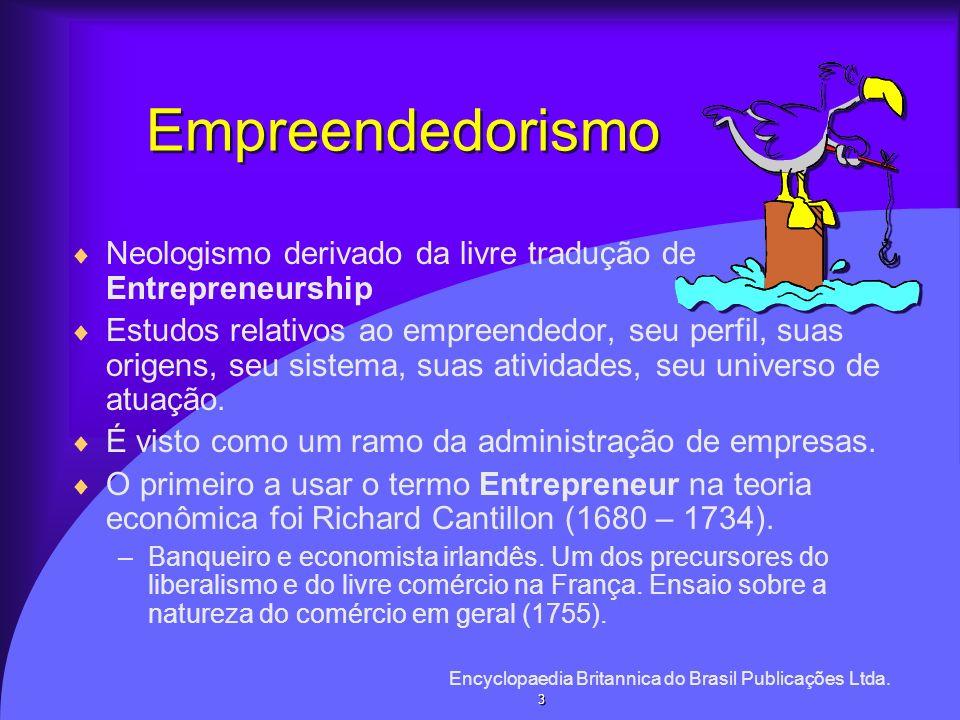 Empreendedorismo Neologismo derivado da livre tradução de Entrepreneurship Estudos relativos ao empreendedor, seu perfil, suas origens, seu sistema, s