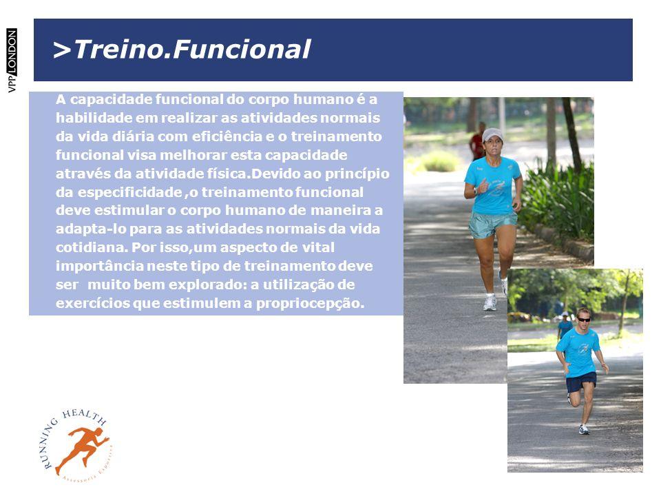 >Treino.Funcional A capacidade funcional do corpo humano é a habilidade em realizar as atividades normais da vida diária com eficiência e o treinament