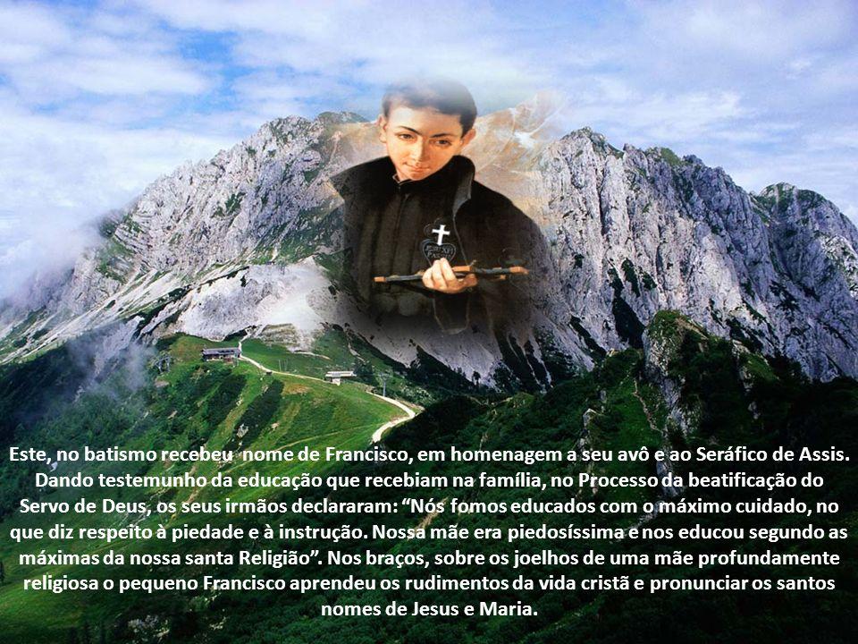 Gabriel de Nossa Senhora das Dores, a quem Leão XIII chamava o São Luiz Gonzaga de nossos dias, nasceu em Assis a 1 de março de 1838, filho de Sante Possenti di Terni e Inês Frisciotti.