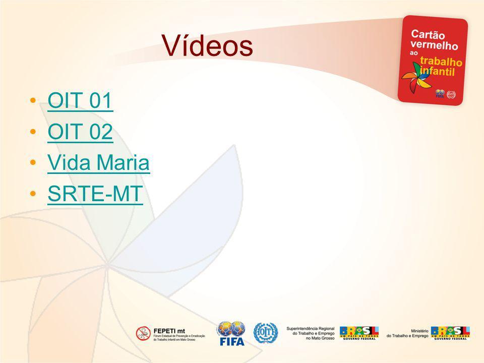 Vídeos OIT 01 OIT 02 Vida Maria SRTE-MT