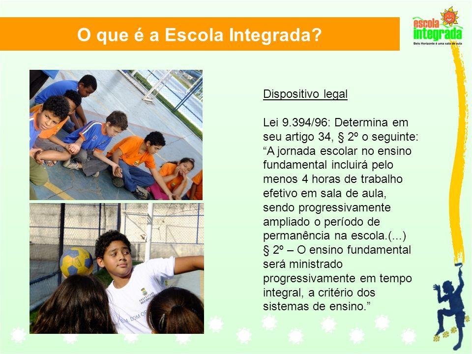 Dispositivo legal Lei 9.394/96: Determina em seu artigo 34, § 2º o seguinte: A jornada escolar no ensino fundamental incluirá pelo menos 4 horas de tr