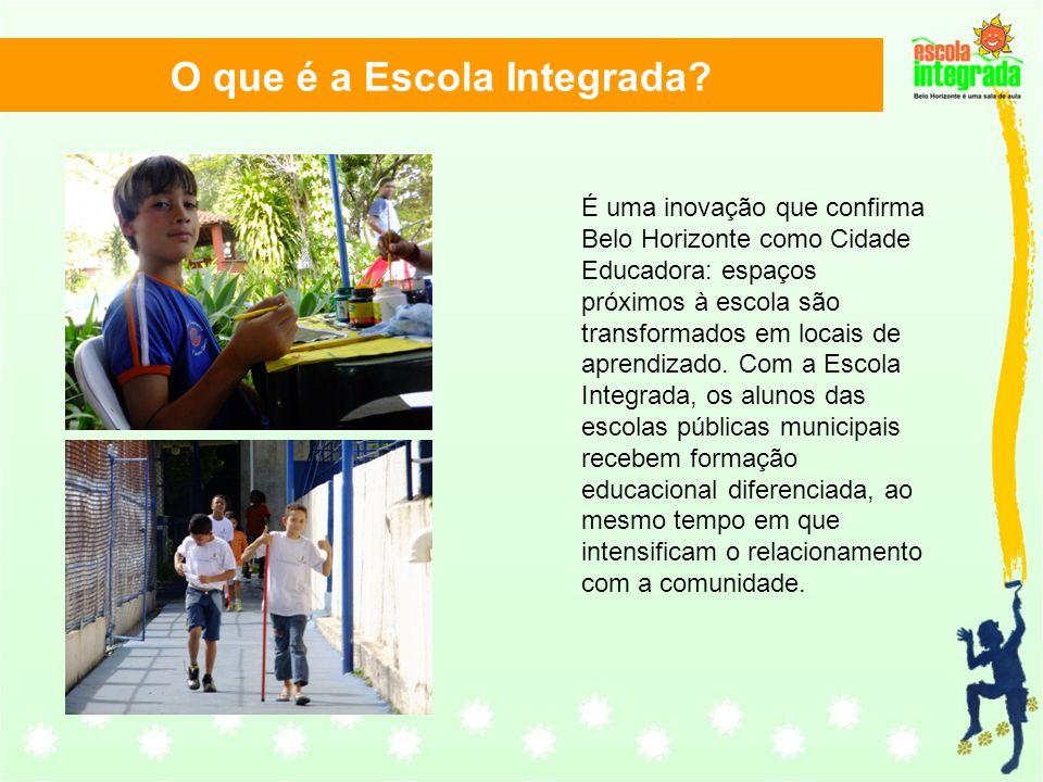 É uma inovação que confirma Belo Horizonte como Cidade Educadora: espaços próximos à escola são transformados em locais de aprendizado. Com a Escola I