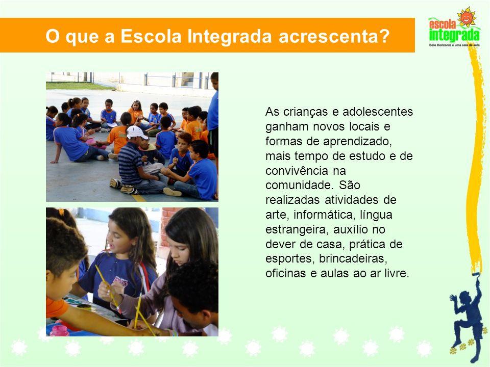 As crianças e adolescentes ganham novos locais e formas de aprendizado, mais tempo de estudo e de convivência na comunidade. São realizadas atividades