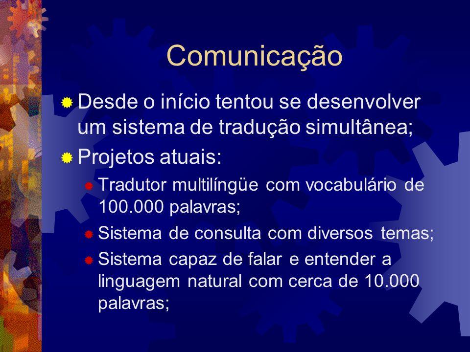 Desafios da IA Comunicação e Percepção: Linguagem Natural, Visão, Manipulação; Raciocínio Simbólico; Engenharia do Conhecimento;