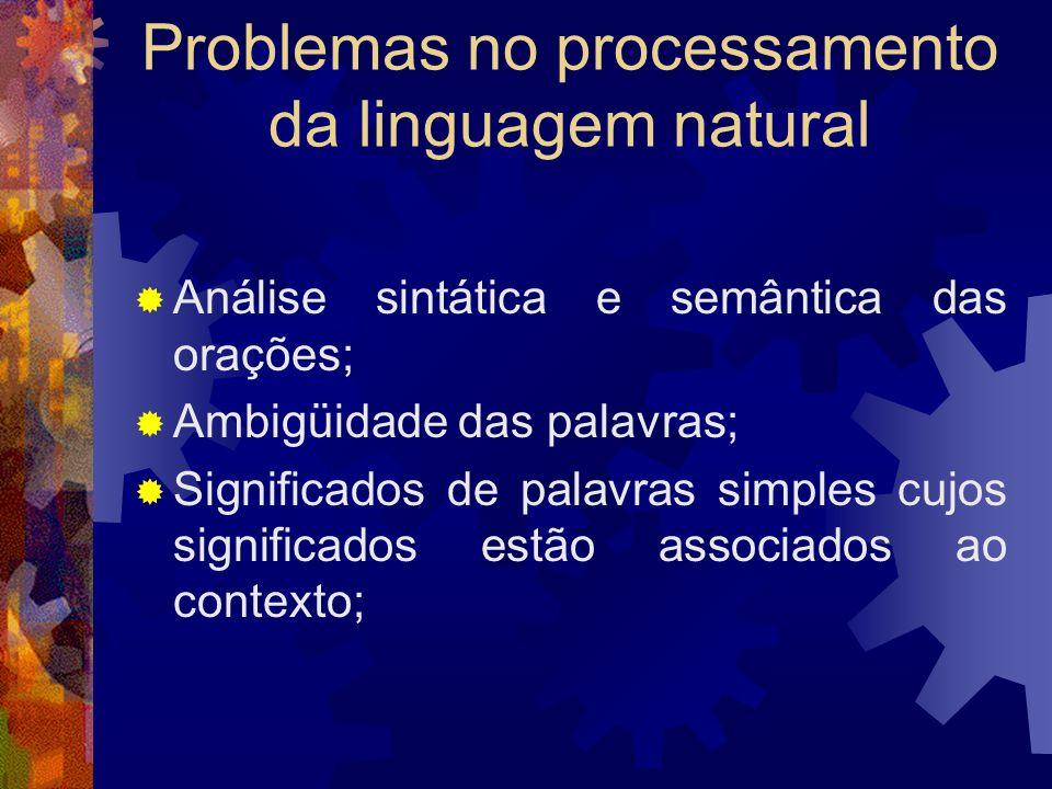 Comunicação Desde o início tentou se desenvolver um sistema de tradução simultânea; Projetos atuais: Tradutor multilíngüe com vocabulário de 100.000 p